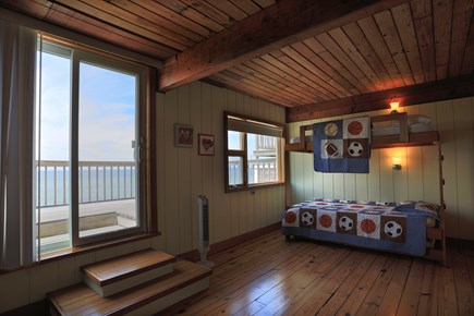 Truro Cape Cod vacation rental - Kids room - 2 bunk beds with trundles.