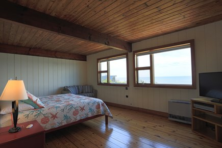 Truro Cape Cod vacation rental - Master Bedroom suite with private bath and office.