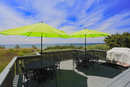 Truro Cape Cod vacation rental - BBQ and cocktails on Bay Bluff Cafe.
