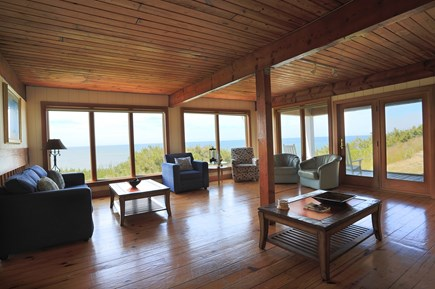 Truro Cape Cod vacation rental - Living room with a view.