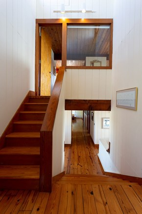 Truro Cape Cod vacation rental - Stairway to your private suite.
