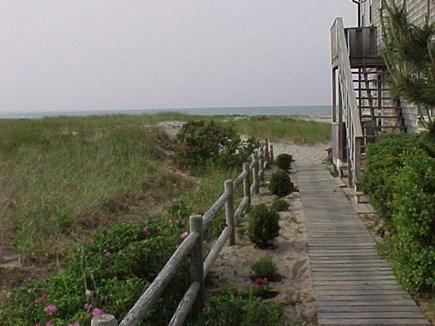 Provincetown Cape Cod vacation rental - You walk down our driveway about 200 ft till you hit beach sand.