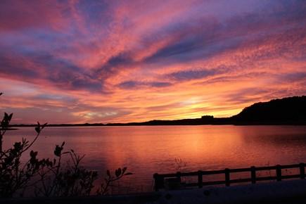 Wellfleet Cape Cod vacation rental - Sunset over Great Island.