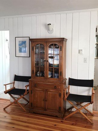 Wellfleet Cape Cod vacation rental - Living room cabinet.