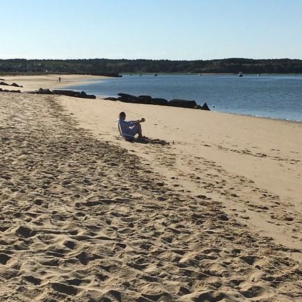 Wellfleet Cape Cod vacation rental - Stretch of Mayo Beach across the street