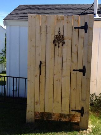 Wellfleet Cape Cod vacation rental - Large outdoor shower.