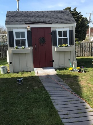 Wellfleet Cape Cod vacation rental - Laundry Shed and large outdoor shower.