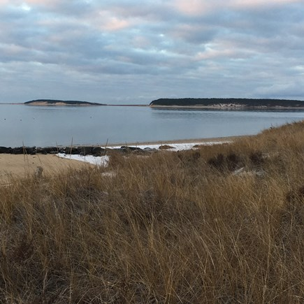 Wellfleet Cape Cod vacation rental - Winter on Mayo Beach.