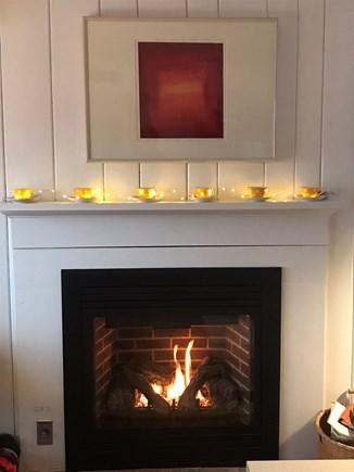 Wellfleet Cape Cod vacation rental - Fireplace...