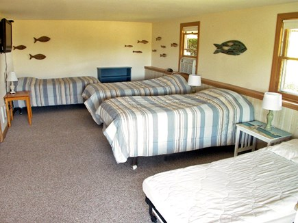Chatham Cape Cod vacation rental - Large bright 4th Bedroom has 3 twins and deluxe fold-out bed.