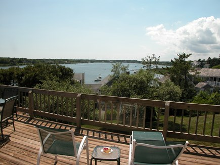 Chatham Cape Cod vacation rental - Wrap-around deck has water views, gas grill and table for dining