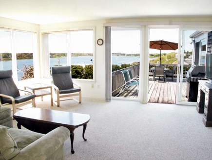 Chatham Cape Cod vacation rental - Sun Room has expansive water views, door to deck, central air