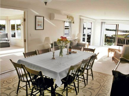 Chatham Cape Cod vacation rental - Dining Room seats 10. Open floor plan with house wide waterviews