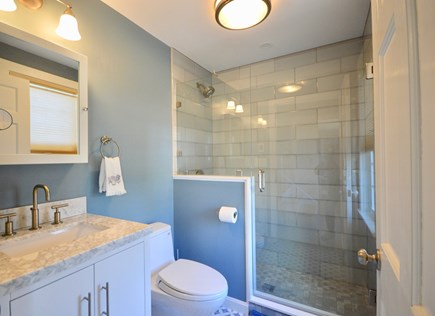 Orleans Cape Cod vacation rental - Newly remodeled main level bath with walk in tile shower