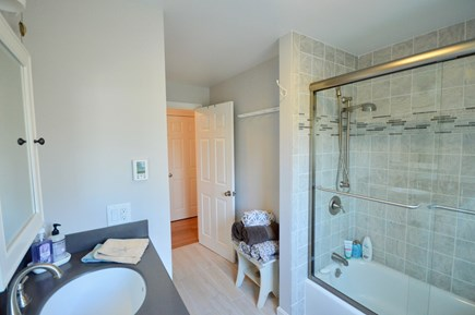 Orleans Cape Cod vacation rental - Newly remodeled upper level full bath with shower/tub combo