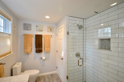 Orleans Cape Cod vacation rental - Newly remodeled master bath with walk in tiled shower