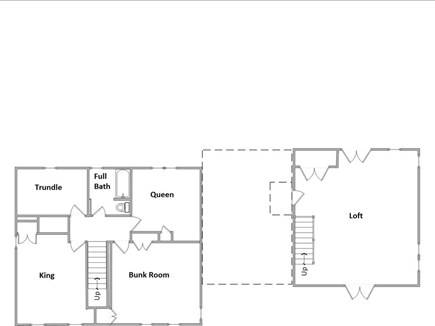 Eastham Cape Cod vacation rental - Second Floor Layout