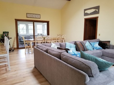 Eastham Cape Cod vacation rental - Bright Great Room w. 16ft ceilings, opens into kitchen.