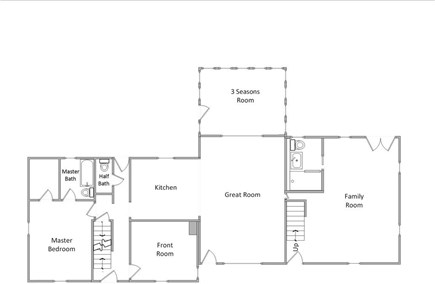 Eastham Cape Cod vacation rental - First Floor Layout