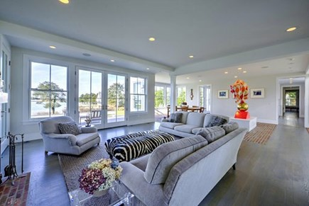 West Falmouth Cape Cod vacation rental - Living Room with open concept