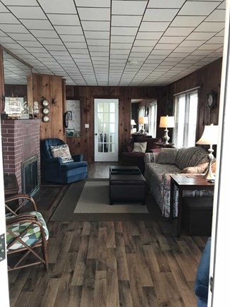 North Falmouth Cape Cod vacation rental - Living room with queen sleep sofa