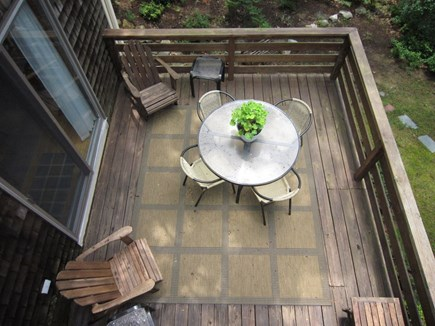 Orleans Cape Cod vacation rental - View of 1st floor deck from 2nd floor balcony