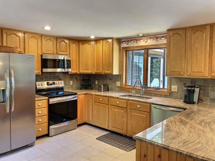 Eastham Cape Cod vacation rental - Fully stocked kitchen, glass top stove, dishwasher & fridge