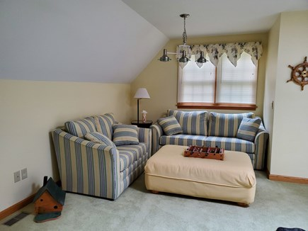 Eastham Cape Cod vacation rental - Bonus room TV, loveseat & pullout queen sofa.