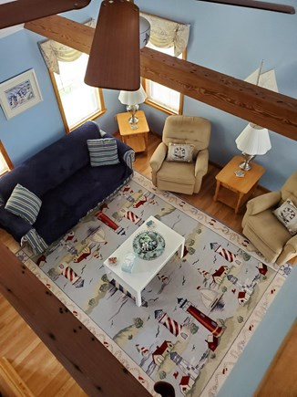 Eastham Cape Cod vacation rental - View of the living room from loft area