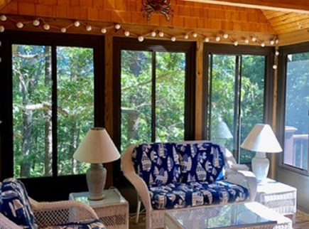 Eastham Cape Cod vacation rental - Screened porch perfect for enjoying your morning coffee