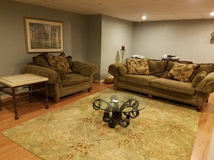 Brewster Cape Cod vacation rental - Lower level living room area