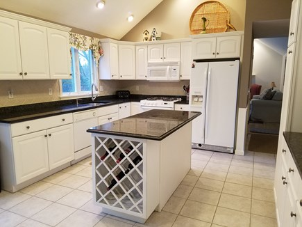 Brewster Cape Cod vacation rental - Open concept kitchen and dining area