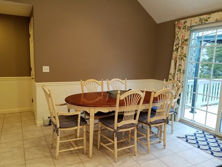 Brewster Cape Cod vacation rental - Dining area with slider to deck