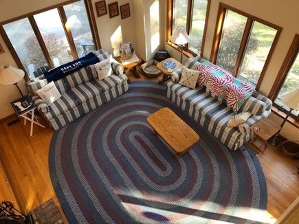 Wellfleet Cape Cod vacation rental - Living room area from photo taken from the loft