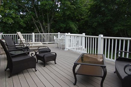 Harwich Port Cape Cod vacation rental - Deck Overlooking Great Backyard