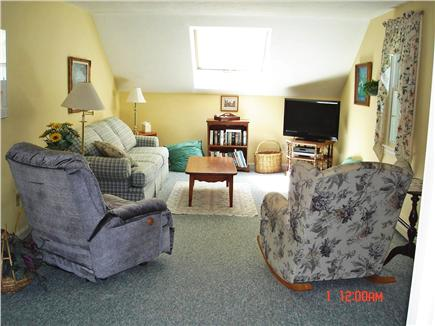 East Falmouth Cape Cod vacation rental - Family room with sleep sofa