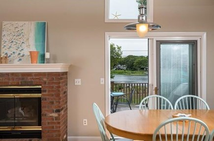 Falmouth Cape Cod vacation rental - Entrance to the deck w/ water view