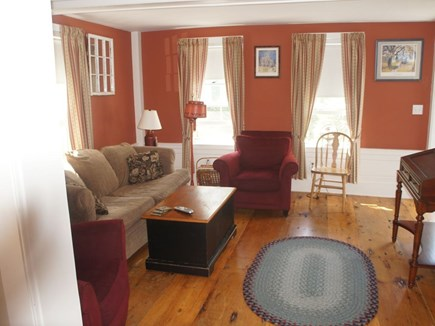 north truro Cape Cod vacation rental - Living room with pull-out sofa
