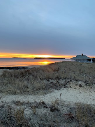 Wellfleet Cape Cod vacation rental - Sunset over Mayo Beach and Great Island.