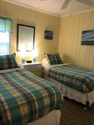 Wellfleet Cape Cod vacation rental - Twin bedroom with wall-mounted TV