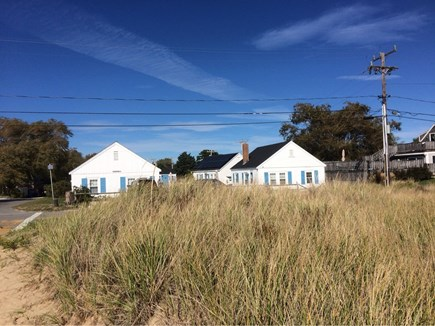 Wellfleet Cape Cod vacation rental - View of cottages from Mayo Beach.