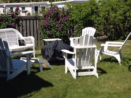 Wellfleet Cape Cod vacation rental - Backyard fire pit