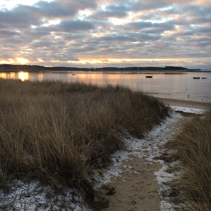 Wellfleet Cape Cod vacation rental - Winter on Mayo Beach