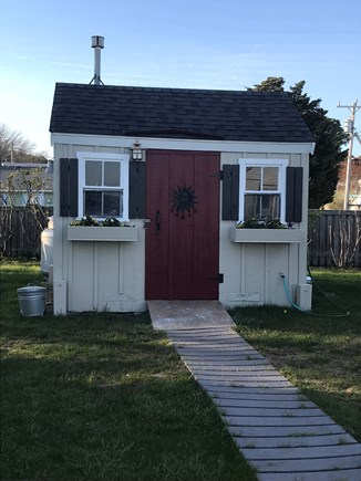 Wellfleet Cape Cod vacation rental - Laundry Shed With front loading washer and dryer.