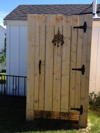 Wellfleet Cape Cod vacation rental - Huge outdoor shower - all the kids fit at once!