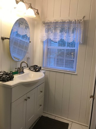Wellfleet Cape Cod vacation rental - Bathroom with marble shower.