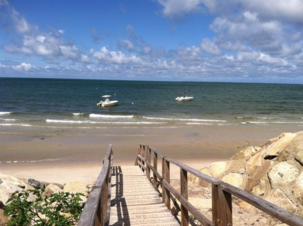 Brewster Cape Cod vacation rental - Stairs to private lane beach - Brewster Flats