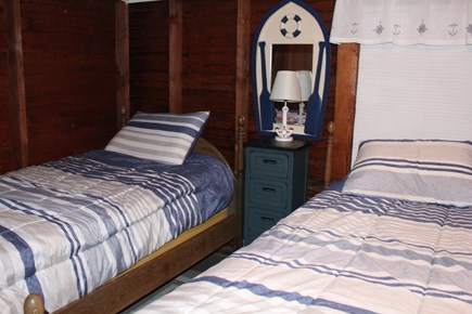 Brewster Cape Cod vacation rental - Upstairs bedroom - 2 single beds, 1 bunk bed