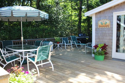 Brewster Cape Cod vacation rental - Wrap around deck