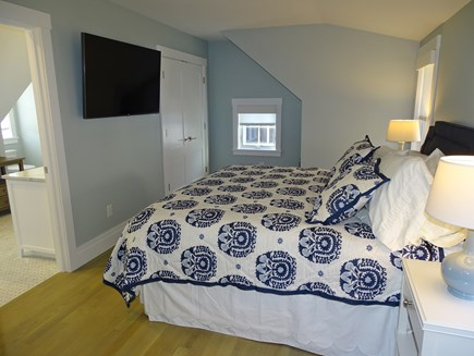 Provincetown,  East End Cape Cod vacation rental - Upstairs King Master with TV, custom closet, ensuite bathroom